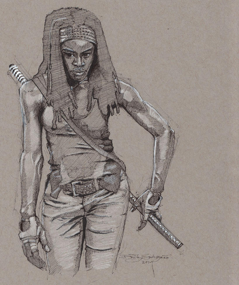 Michonne - The Walking Dead by Svendsgaard