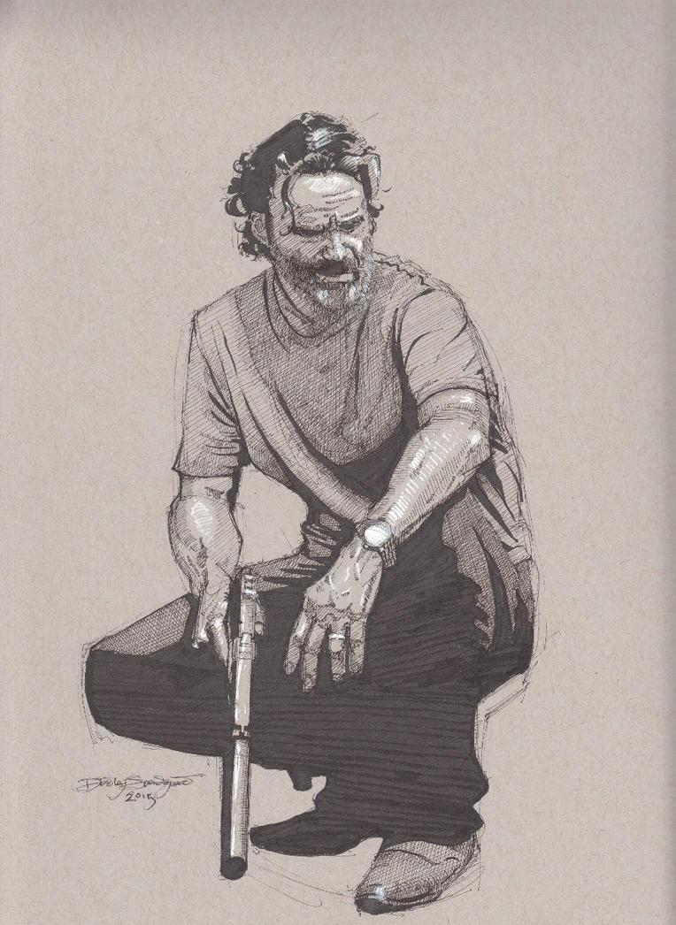 Rick Grimes - The Walking Dead by Svendsgaard