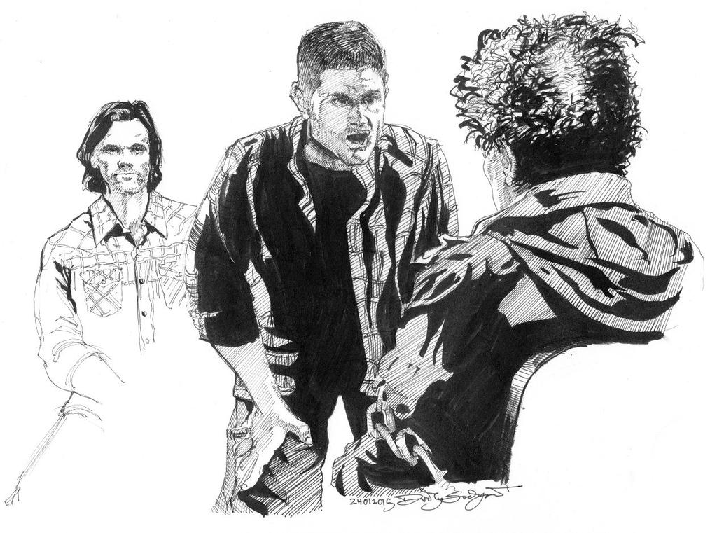 Sam and Dean Interrogate Metatron - Supernatural by Svendsgaard