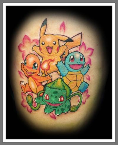 Pokemon Thigh Tattoo By Lawlfox