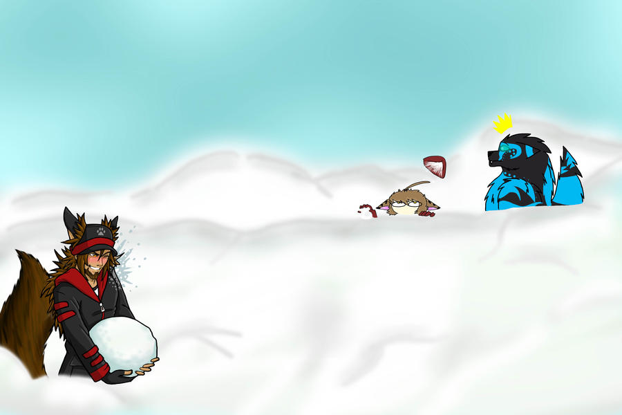 Snowball Fight - Collaboration by Lawlfox