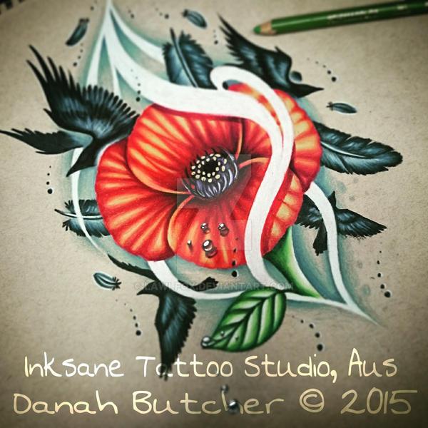 Poppy Flower Design by Lawlfox