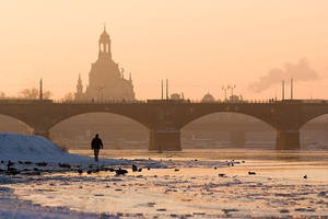 winterly city of Dresden