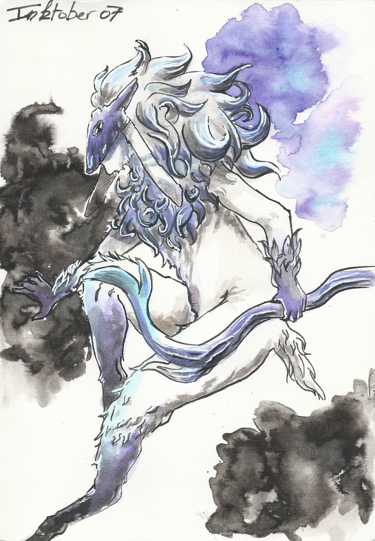 Inktober 07 - The Lamb by GreyMind666