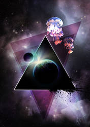 Space Triangle by mayan-art