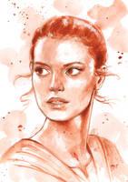 Rey - Star Wars by mayan-art