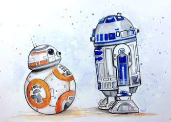 R2-D2 Meets BB-8