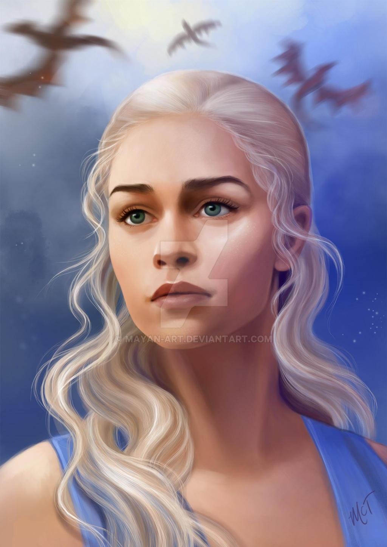 Daenerys Targaryen by mayan-art