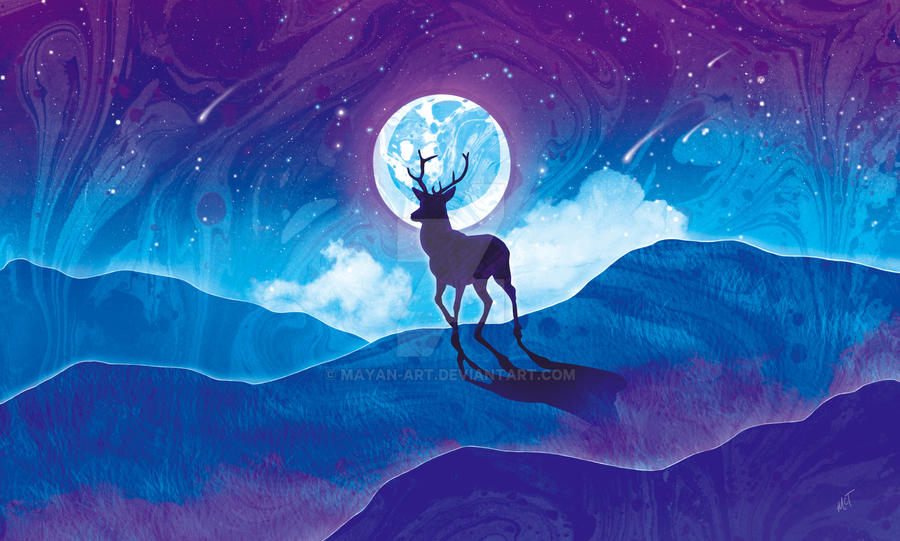 Moonlit Stag