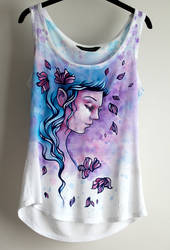 Spring Ink Fairy - painted T-shirt