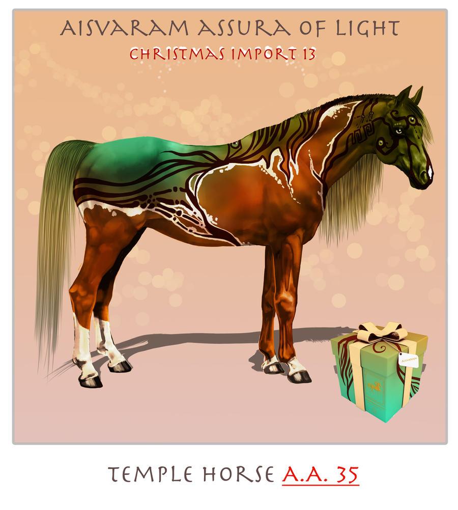 Temple horse starter  A.A.35. by serranef