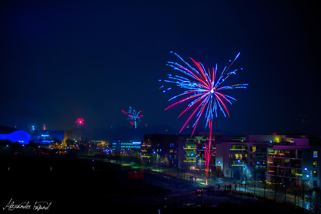 New Year at Fornebu, Norway by TanorY