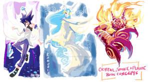 Concept art - 3 bosses