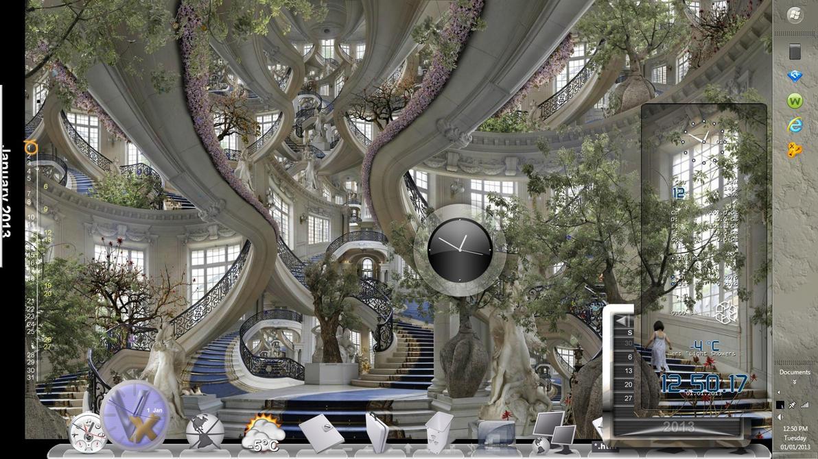 Escalier de l 39 hotel de ville de versailles by for Piscine de versailles