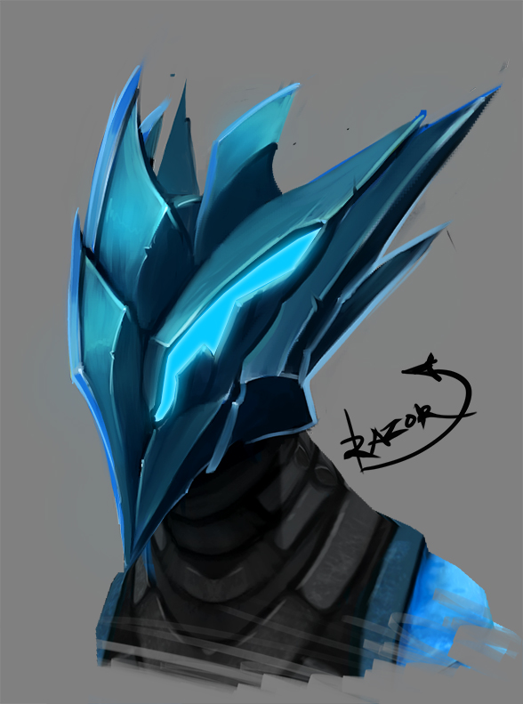 Razor Helm by AriaDusk