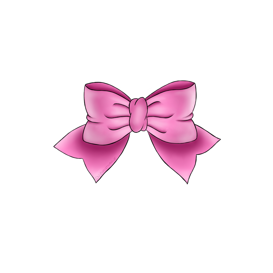 Cute Bow Tie Drawing Pink bow by V-P...