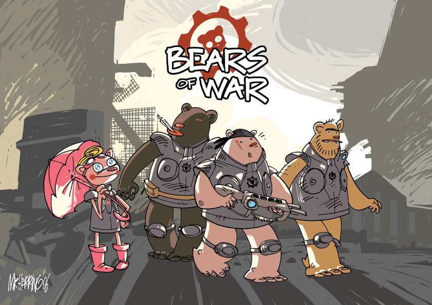 Bears of War classic by sledziu