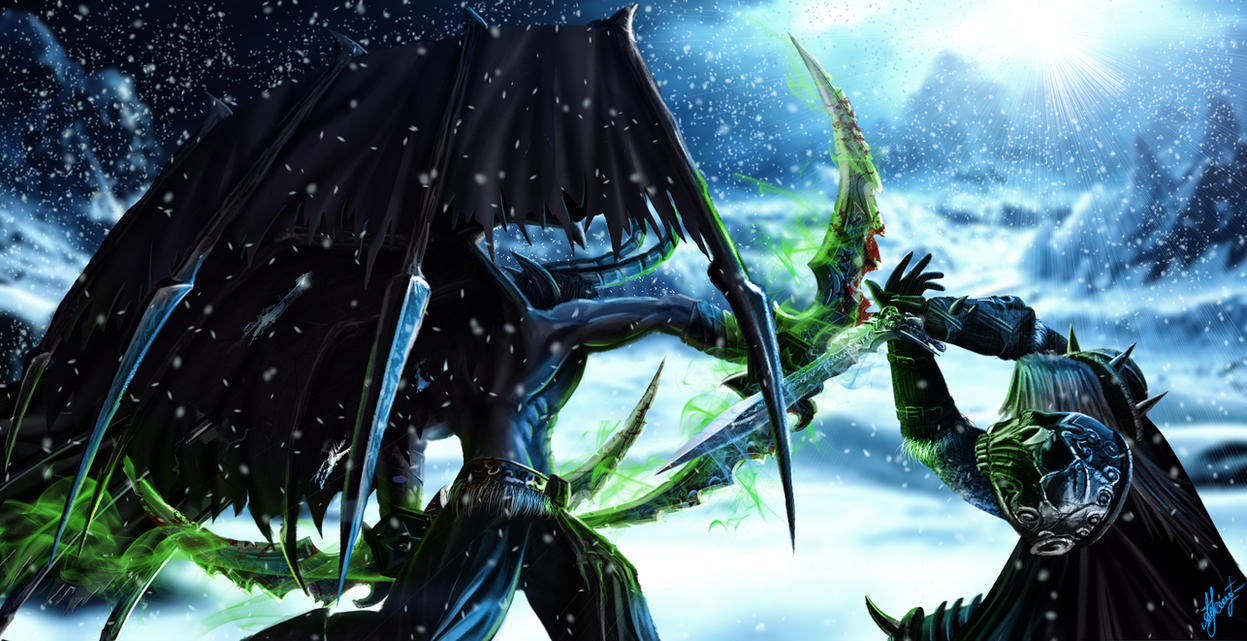 Arthas vs Illidan by Lensar