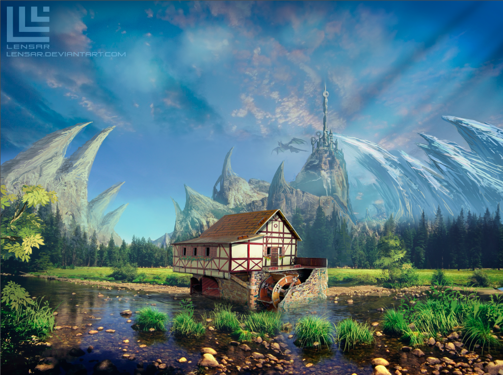 Fantasy place by lensar on deviantart for Places that buy art