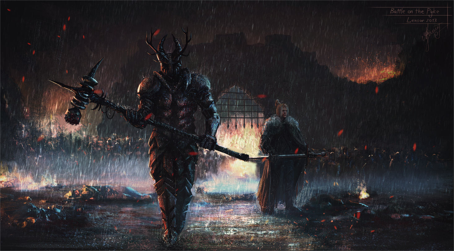 Battle on the Pyke (Robert and Ned)