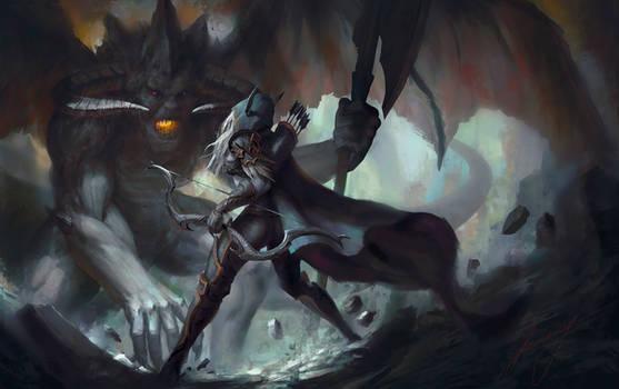 Sylvanas vs Lord of Terror