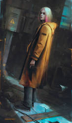 Yellow coat d