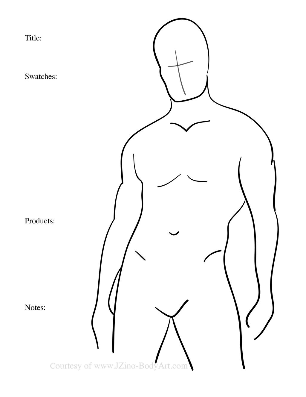Male Body Paint Template By Jzino On Deviantart