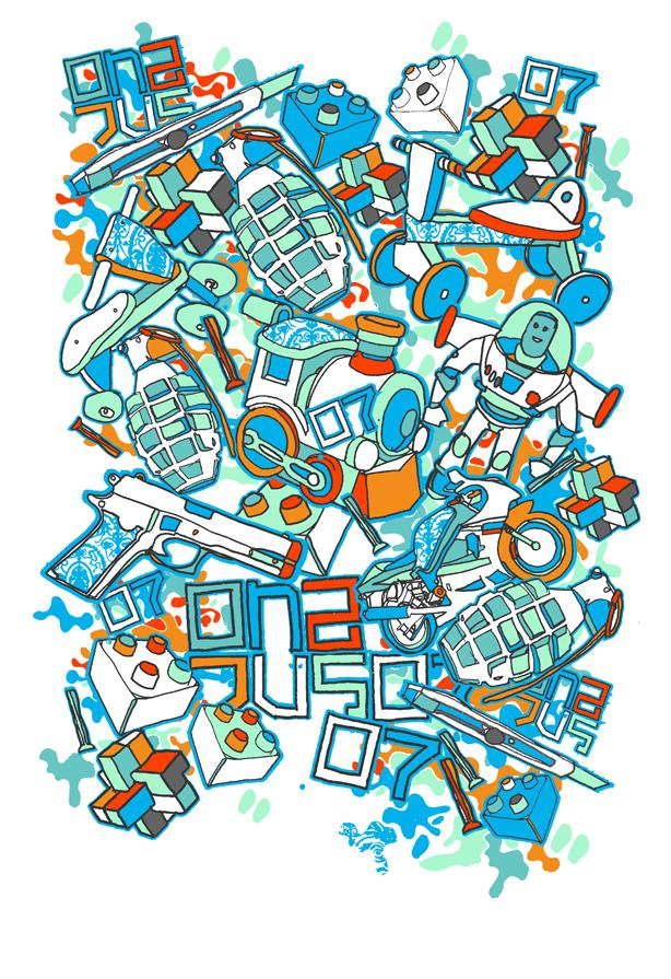 mint blue and orange by JU5