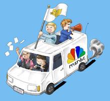 MSNBC Party Van by ayarane