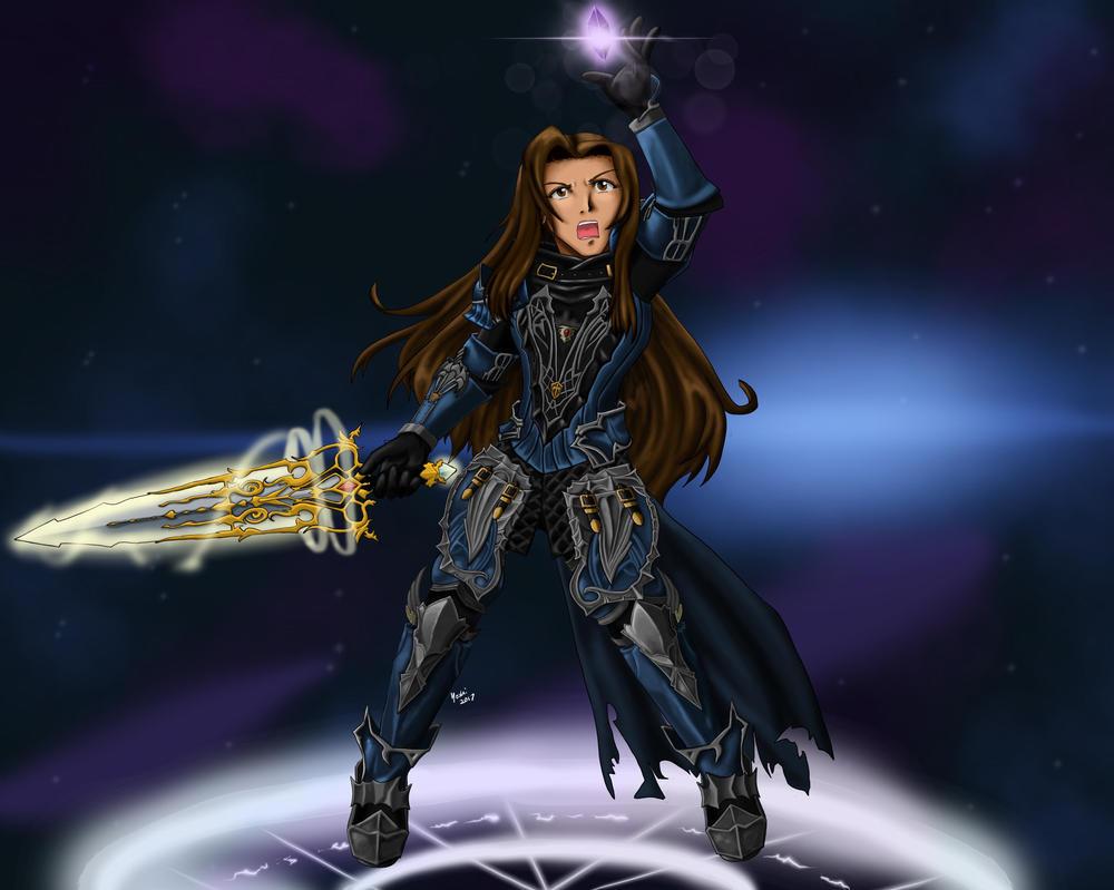 FFXIV - Hikaru Dragonia - Shire Custodian Armor by ayarane
