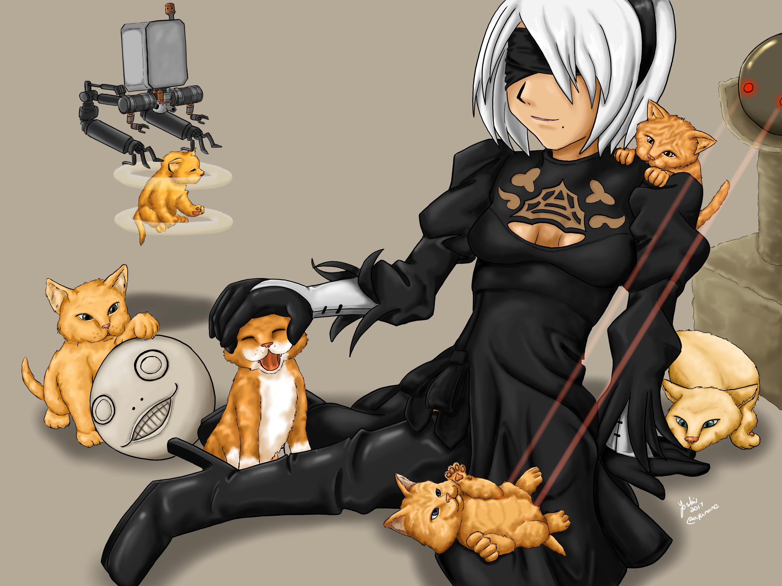 NieR:Automata - Virtuous Catnip by ayarane