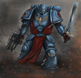 Crimson Fists Space Marine