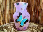 Butterfly Flower / Floral Rhinestone Flower Vase