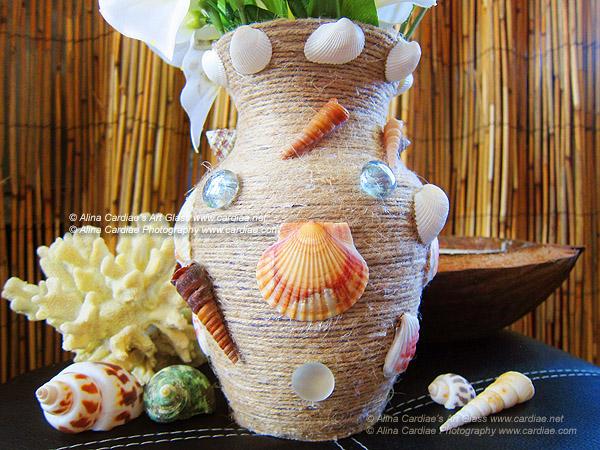 Tropical Flower Glass Vase Sea Shells By Cardiae On Deviantart