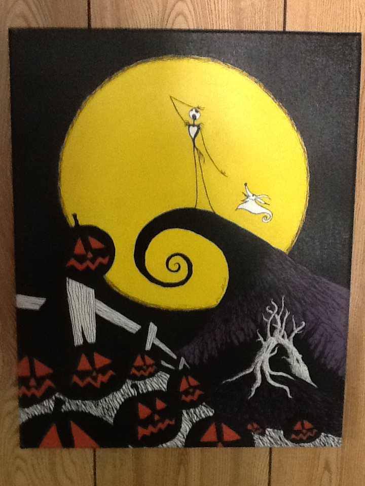 The Nightmare Before Christmas' painting by kriskilgannon on ...