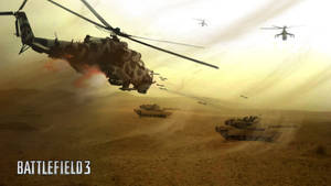 Helicopters attack