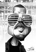 Kanye West by Bisart