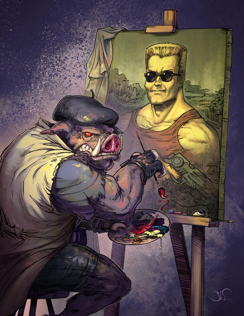 Duke Nukem by Bisart