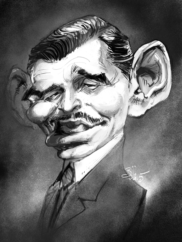 Clark Gable by Bisart