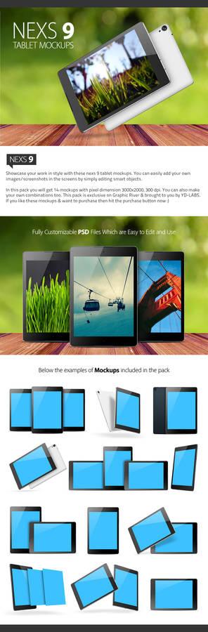 Nexus 9 Mockups