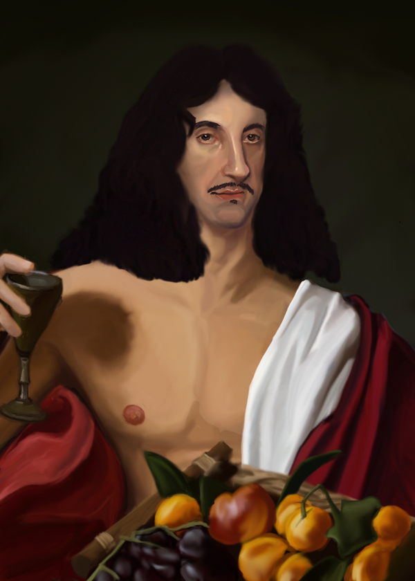 WIP King Charles II Study painting by Morianrhod