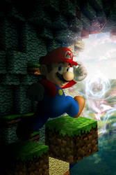 Mario in Minecraft doing The Time Warp by EpicMisterMag