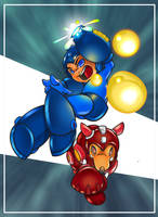 Mega Man to the Rush by mulcimber