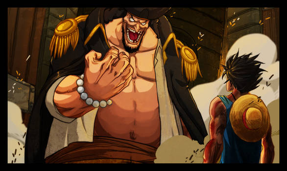 Luffy and Blackbeard
