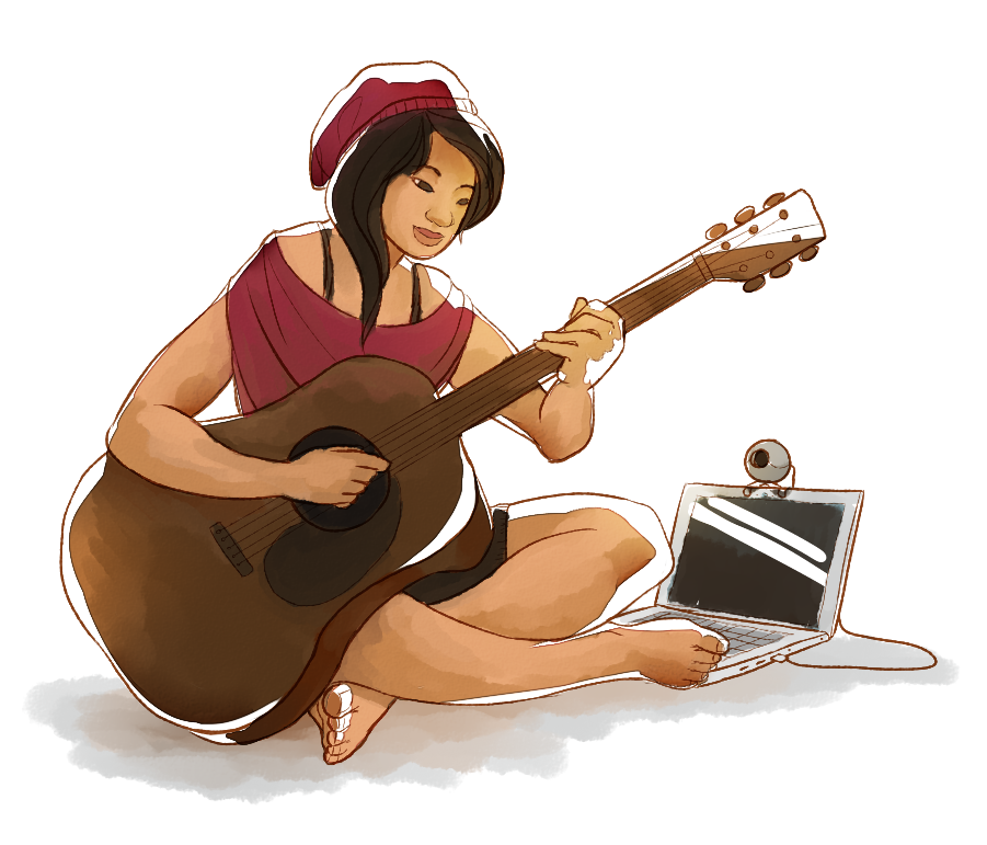 Guitar Girl by twistedCaliber