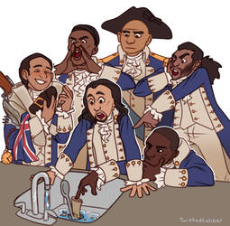 Alexander Hamilton and the garbage disposal by twistedCaliber