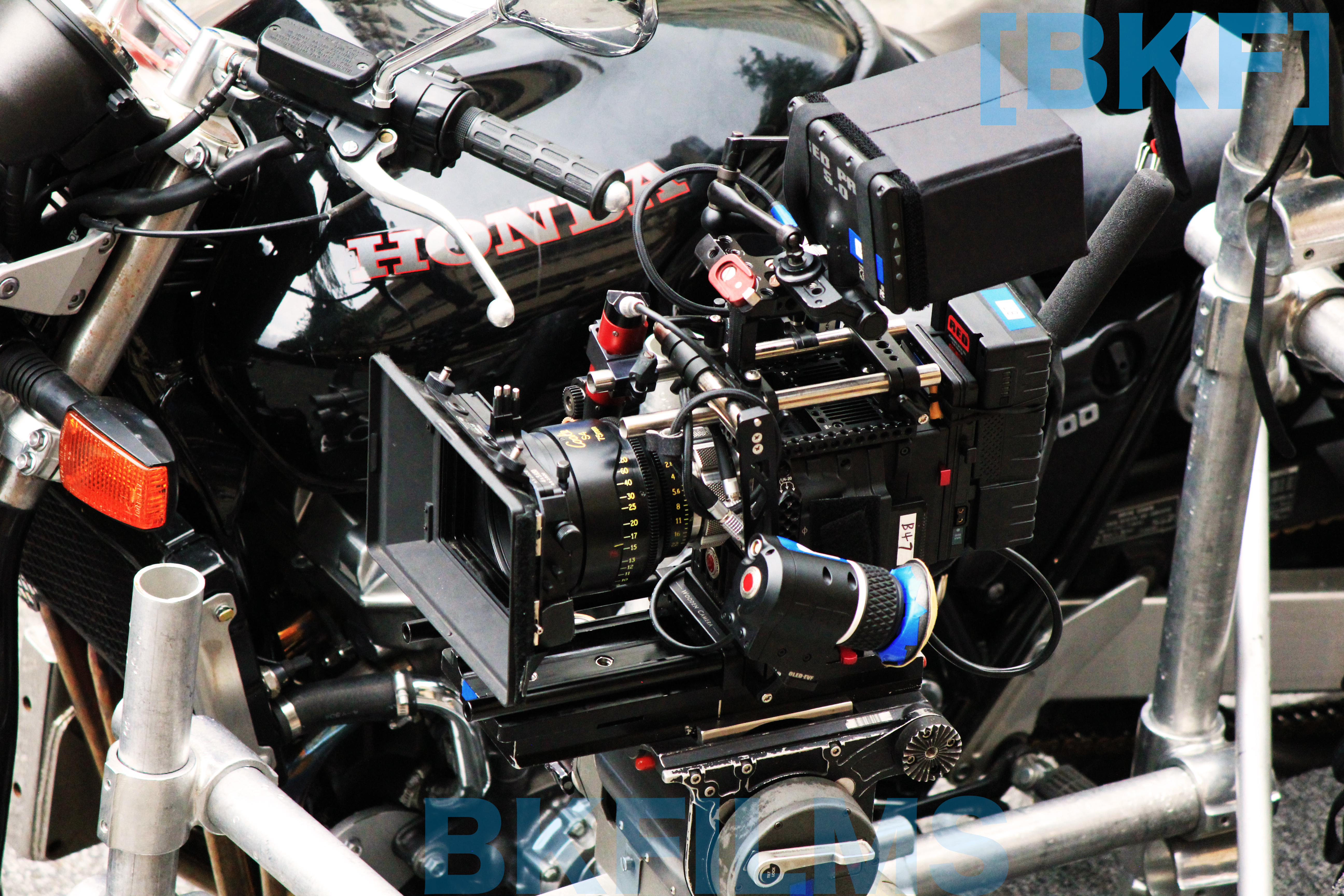 Tokarev BTS RED Cinema Camera Mounted On A Rig By BKFILMS