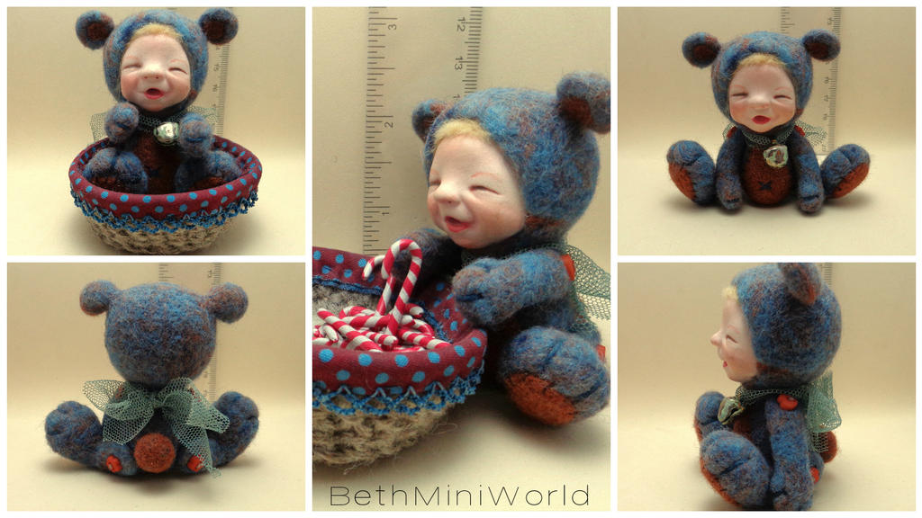 Mixed Media Baby: wool and clay by BethMiniWorld
