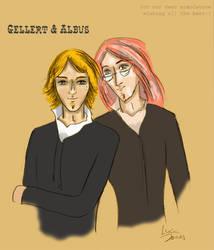 Gellert and Albus by lucia-jones