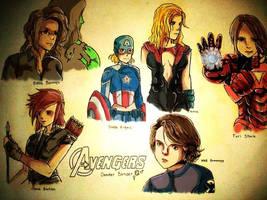 The Avengers genderbended by RazPerm